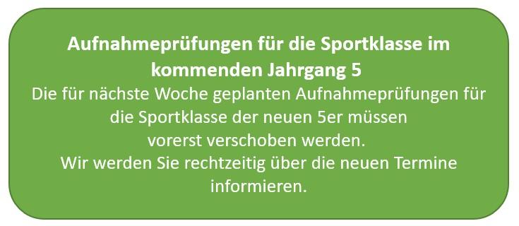 Sportaufnahmeprüfung